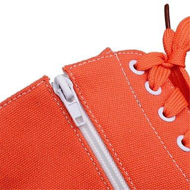CH&TOU Da donna-Stivaletti-Ufficio e lavoro / Formale / Casual-Others-Piatto-Finta pelle-Bianco / Arancione white
