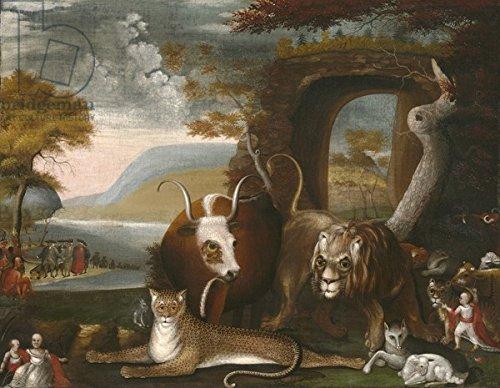 "Poster-Bild 30 x 20 cm: ""The Peaceable Kingdom and Penn?s Treaty, 1845 (oil on canvas)"", Bild auf Poster"