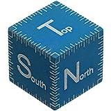 Fotodiox Scale Cube Objet avec Laser gravé pour Macro/Météorite Photographie Bleu 1 cm
