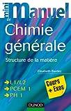 Mini manuel de chimie générale - Structure de la matière