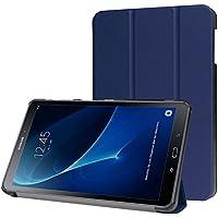 Funda Samsung Galaxy Tab A 10.1 2016 (A6) Case, con [Auto Sueño / Estela] HZSSEC Smart Cover Case Ligera Funda Cáscara para Samsung Galaxy Tab A 10,1 pulgadas 2016 T580N / T585N Tablet, Azul oscuro