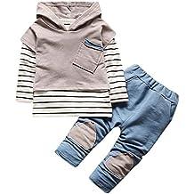 Conjunto Bebé, Amlaiworld Recién nacido Bebé niño niña rayas camiseta Tops + pantalones conjunto de ropa 6 Mes - 3 Años