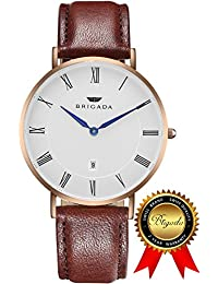 BRIGADA Swiss Watches For Men Women, Minimalist Business Casual Waterproof Watch For Men Women, Great Gift For...