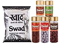 Swad Saver Pack of 100 Swad Original Candies & Set of 5 Pachak Bottles White Sweet Saunf, Shahi Anardana, Khatta Meetha Khajoor, Shahi Banarasi Paan & Shahi Navratan Mix, 800 gm