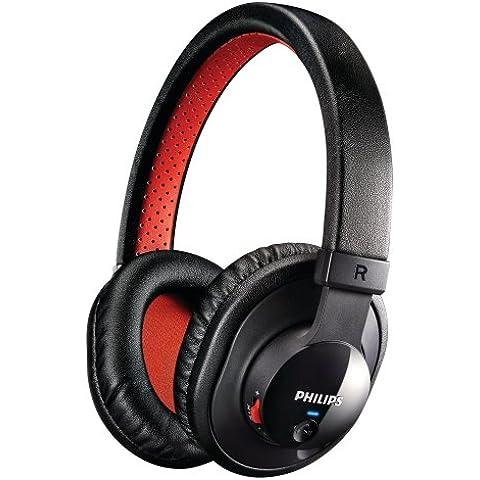 Philips SHB7000/10 - Auriculares de diadema cerrados (conexión Bluetooth y USB), Negro