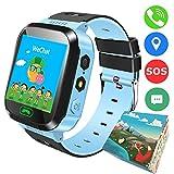 TDH enfants GPS intelligent Watch, 01h44 pouces tactile anti-perte SmartWatch pour enfants Filles Garçons avec caméra SIM appelle SOS SmartWatch Bracelet