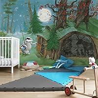 Wassili Waschbär Kinder Vlies Tapete XXL Wassili Sibelius schlafen Foto Tapete
