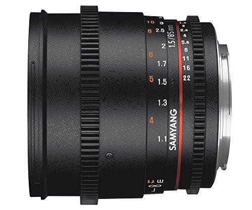 Samyang 85mm T1.5 VDSLR AS If UMC II SLR Noir - Lentilles et filtres d'appareil Photo (SLR, 9/7, 1,1 m, Sony E, Manuel, 8,5 cm)