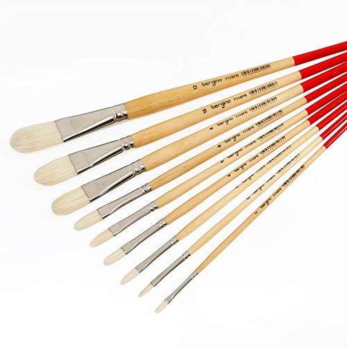 Oil Painting Brush Solid Wood Pole Artist Oil Acrylic Paint Brushes Art Supplies,A