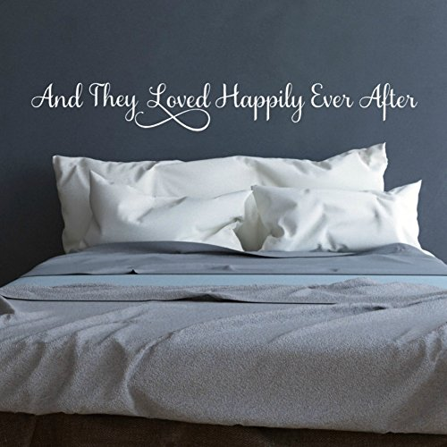 xanthe88eliot Romantische Schlafzimmer Decor und Sie Loved Happily Ever After vor das Bett Art Wand Hochzeit Geschenke Hochzeit Dusche Geschenk Brautschmuck Dusche Geschenk 121,9x 15,2cm