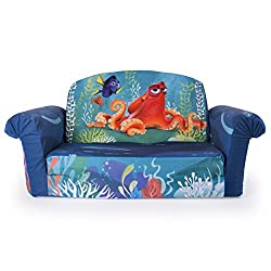 Marshmallow Furniture - Flip Open Sofa - Finding Dory