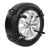 Schneeketten,Anti Skid Nail Auto Snow Tire Ketten,Universal Schneereifenketten Anti Rutsch Kette Für Auto SUV LKW mit 165 mm-285 mm Reifen Breite,Einfach zu Installieren Schneekette Gelb (C)