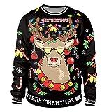 Weihnachtspullover Herren Pullover Pulli Weihnachten Rundhals Sweatshirt  Pullis Sweater Damen Jumper Weihnachtspullis Christmas Rentier Weihnachts  Xmas ... 6e1457ef12