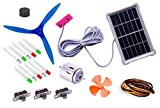 #9: 19 items in 1 solar energy kit II Multi-purpose solar educational kit II Solar plate + solar alarm + 10 LEDs + motor + 2 Propeller + wire + 3 switch + instruction manual II Solar Educational learning project kit