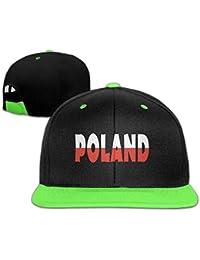 qzjkw niños Funny con texto en Polonia algodón Hip Hop estilo hip-hop gorra  de b93a764f0d3