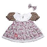 YaToy Ensemble De Vêtement Déguisement Poupée Peluche Costume Animaux Ours Peluche Nounours robe à fleur
