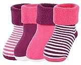 EOZY 4 Paar Baby Socken Kleinkind Herbst Winter Warme Socken Rutschfest Rosa S