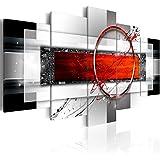 murando – Impression sur toile – 200x100 cm cm – 5 pieces - Image sur toile – Images – Photo – Tableau - motif moderne - Décoration - tendu sur chassis - abstraction abstrait a-A-0052-b-n