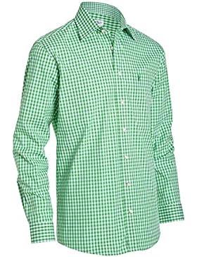 Almsach Herren Regular Fit Trachtenhemd HE162 apfelgrün