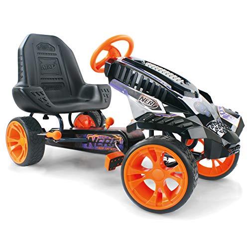 HAUCK Nerf Battle Racer Kart-Pedal Vehículo con Nerf Blaster sujeción Consola, neumáticos de EVA, ajustable Asiento Posición | freno de mano para ambas ruedas traseras