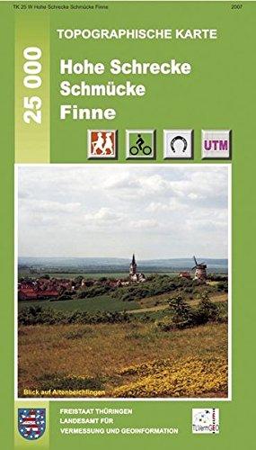 Hohe Schrecke, Schmücke, Finne: Ausgabe mit Wanderwegen. 1:25000 (Topographische Karten Thüringen - Freizeit- und Wanderkarten 1:25000)