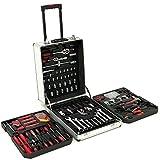 Monzana® Werkzeugkoffer 629tlg ✔ abschließbar ✔ Aluminium Rollkoffer ✔ inkl. vielseitigem Zubehör & Arbeitshandschuhen ✔ Modellauswahl