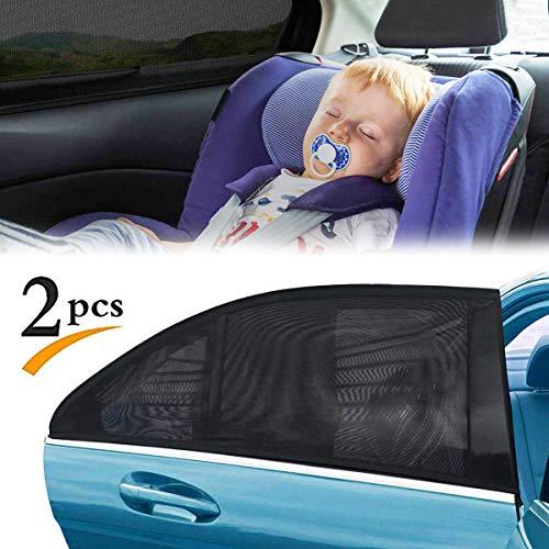 FAGORY Sonnenschutz Auto Baby/Kinder (2 Stück) Auto Sonnenschutz Zubehör für Seite Heckscheibe Fenster, bietet maximalen Schutz gegen UVA für Baby, Kinder, Haustiere, 50