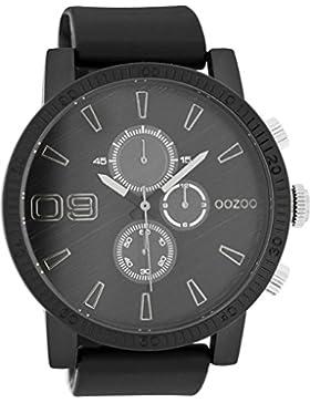 Oozoo Herrenuhr mit Silikonband 51 MM Schwarz/Schwarz C7869