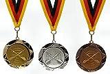 JoGo-Pok Medaille D=70mm, 3D, Spiker (Darts) inkl. 22mm Band, 3er Serie