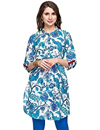 Stop By Shoppers Stop Womens Mandarin Neck Printed Kurta