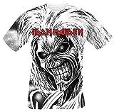 Iron Maiden Killers Allover Camiseta Blanco L