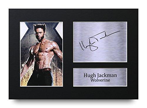 Foto firmada por Hugh Jackman A4 con autógrafo impreso de Wolverine X-Men – gran idea de regalo