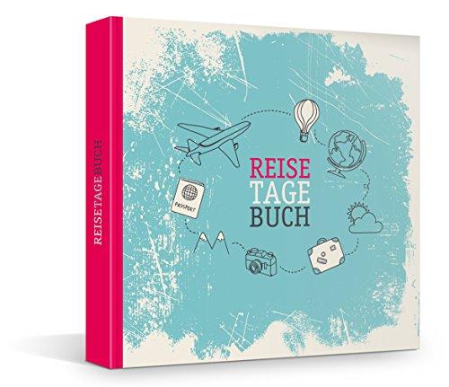 Reisetagebuch zum Selberschreiben & Selbstgestalten, über 200 Blanko-Seiten für persönliche Reiseberichte, Notizbuch, Travel Journal, 21 x 21 cm