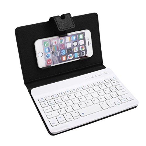 OverDose Leder mit abnehmbarem Bluetooth Tastatur Tastaturen für 5-7inch IOS, Android (Kostüme 18 Android)