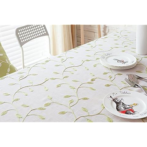 MEICHEN-Tejido de poliéster de manteles bordados jardín viento Jian Ou café mantel servilletas manteles,Blanca,mantenga funda de almohada 45*45cm