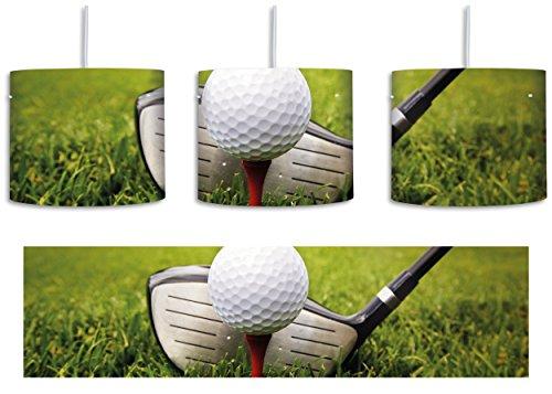 Geburtstag Golf Shirt (Golf Abschlag inkl. Lampenfassung E27, Lampe mit Motivdruck, tolle Deckenlampe, Hängelampe, Pendelleuchte - Durchmesser 30cm - Dekoration mit Licht ideal für Wohnzimmer, Kinderzimmer, Schlafzimmer)
