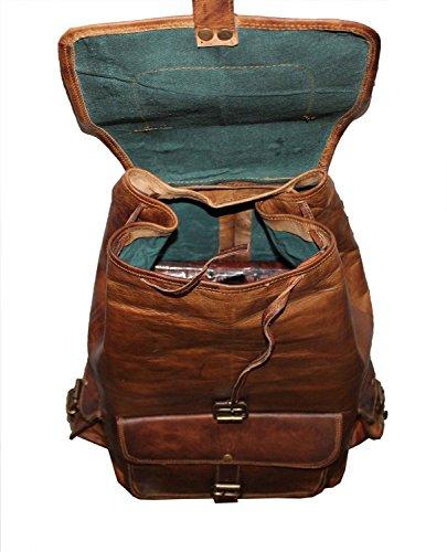 Valentine Gift by VH 50,8 cm fatto a mano in pelle zaino College borsa da viaggio, borsa per laptop vendita marrone scuro).