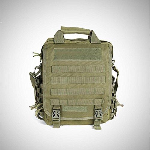 Camouflage wasserdichte Computer Rucksack 14-Inch Outdoor Wandern Camping Rucksack Portable Messenger Bag Multifunktions Handtasche ARM GREEN