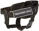 Dean & Tyler Fun funktioniert Tracking Hundegeschirr mit Gepolsterter Brust Stück, klein, passt Umfang Größe: 22bis 27, schwarz mit gelb Rand