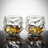 Ecooe 2 x 320ml Whiskeygläser Whisky Glas Set Whiskybecher für Scotch, Bourbon, Whiskey und Viele Getränke Mehr