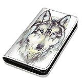 Hülle Galaxy J1 2016 Hülle Samsung J1 J120 Schutzhülle Handyhülle Flip Cover Case Samsung Galaxy J1 2016 J120 (OM1010 Wolf)