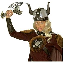 Hacha de mano con hueso arma vikinga halloween