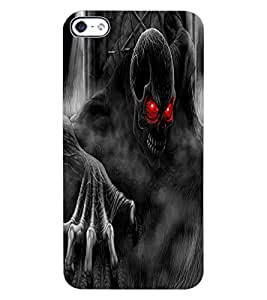 ColourCraft Scary Image Design Back Case Cover for APPLE IPHONE 4S