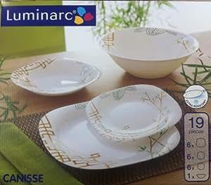service vaisselle arcopal canisse 19pcs luminarc g9830 cuisine maison. Black Bedroom Furniture Sets. Home Design Ideas