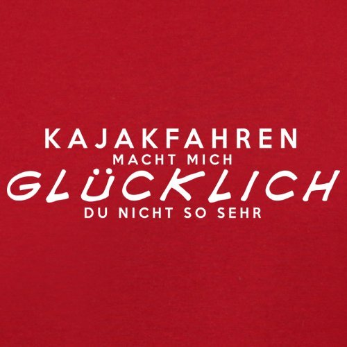 Kajakfahren macht mich glücklich - Herren T-Shirt - 13 Farben Rot