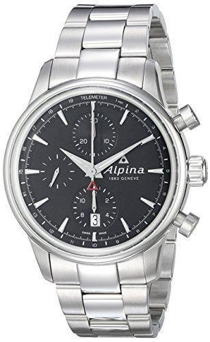 Alpina Alpiner Chronograph Automatic Stainless Steel Mens Watch Calendar AL 750B4E6B