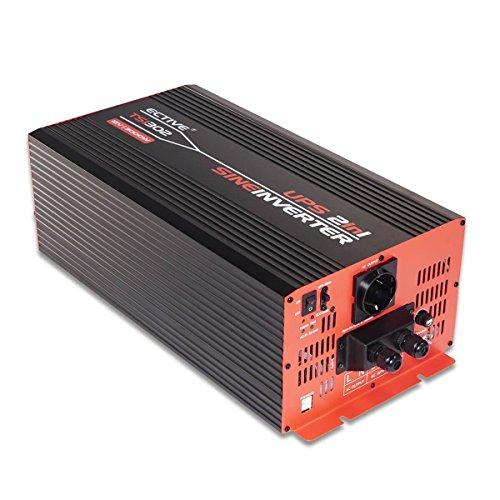 Preisvergleich Produktbild ECTIVE TSI-Serie / Sinus Wechselrichter 3000W mit NVS / 48V zu 230 V / 6 Varianten: 500W - 3000W / Reiner 48 V DC auf AC Spannungswandler mit Netzvorrangschaltung / echter Stromwandler Inverter USV