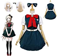 Qfeng New Anime Super Danganronpa 2: Sayonara Zetsubou Gakuen Sonia nevermind Cosplay costumes and wig Hallowe
