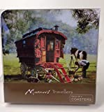 'gypsy Traveller Red Wagon set 4 sottobicchieri con retro in sughero ""