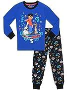 Pigiama di Disney Coco per bambini. Il tuo piccolo potrà inseguire i suoi sogni e avventurarsi nel mondo dei morti grazie a questo vivace completo da notte ispirato al nuovo film di successo Disney Pixar: Coco! Questo PJs blu e nero è caratte...